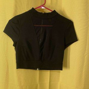Express XS Black Top See Through Insert Front